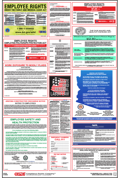 Arizona Labor Law Compliance Poster
