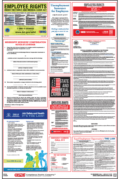 Mississippi Labor law compliance Poster