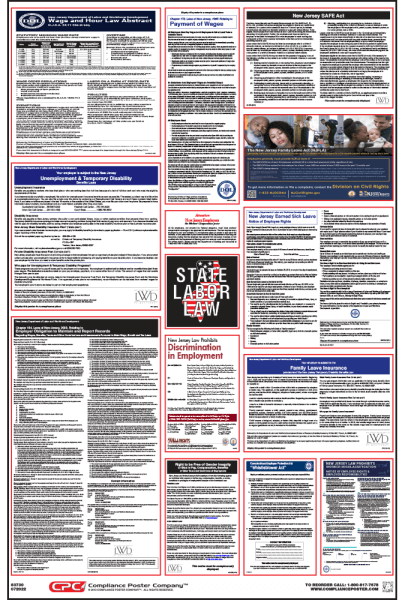 New Jersey Labor law compliance Poster