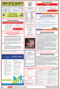 Texas Labor law compliance Poster