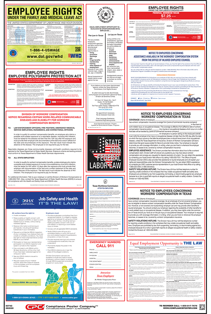 texas labor law poster changes 2018