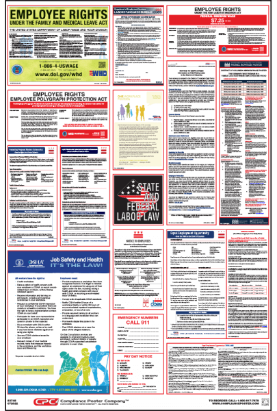 District of Columbia labor Law Compliance Poster