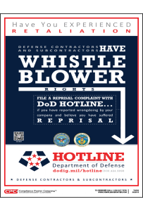 Defense Contractor Whistleblower Poster