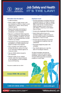 OSHA Job Safety and Health Poster
