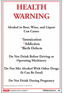Palm Beach County Alcohol Health Warning Poster