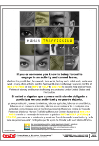 Florida Human Trafficking Poster