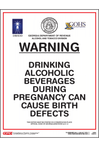 Georgia Alcohol Health Warning Poster