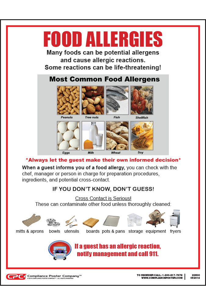 City of saint paul mn food allergy poster compliance poster company saint paul food allergy poster forumfinder Image collections