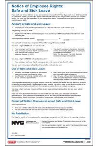 New York Paid Sick Leave Poster