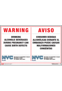 Alcohol Pregnancy Warning Poster
