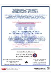 Tennessee Fair Housing Poster