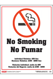 Tennessee No Smoking Poster