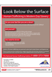 Virginia Human Trafficking Poster