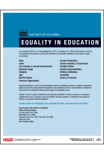 District of Columbia Equality in Education Poster