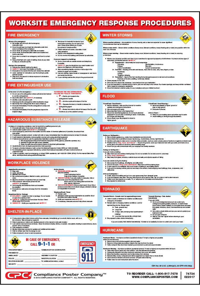 emergency response procedure This policy has a related procedure  shall immediately place into effect the necessary procedures to deal with the emergency activating the emergency response .