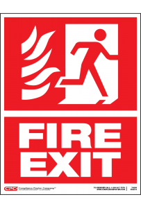 Fire Exit Poster