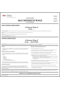 2018 Ohio Minimum Wage Peel 'N Post