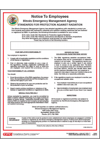 Illinois Standards for Protection Against Radiation Poster