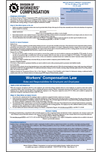 2017 Missouri Workers' Compensation Peel 'N Post