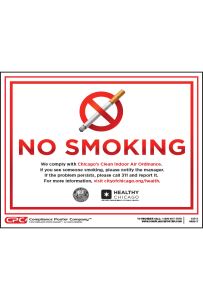 Chicago No Smoking Poster