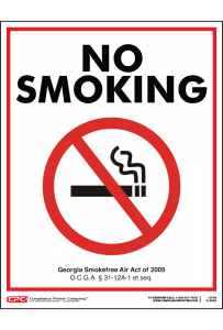 Georgia No Smoking Poster