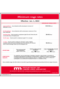 2018 Minnesota Minimum Wage Peel 'N Post