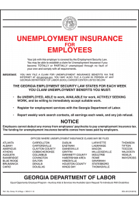 2018 Georgia Unemployment Notice Peel 'N Post - Mobile Poster Pak
