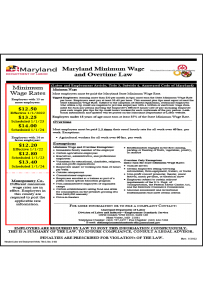 Maryland Minimum Wage and Overtime Law Peel 'N Post
